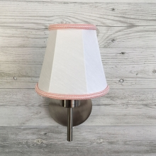 Empire Candle Shade White and Pink